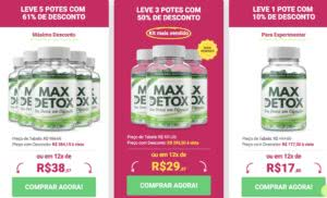 max detox preço